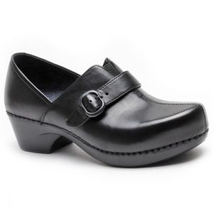 DANSKO Slip On Leather Nursing Black Clogs 35/5